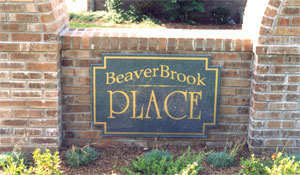 Breaver Brook Subdivision Signage